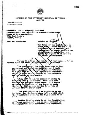 Primary view of object titled 'Texas Attorney General Opinion: O-6488'.