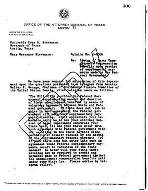 Primary view of object titled 'Texas Attorney General Opinion: O-6686'.