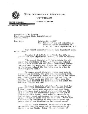 Primary view of object titled 'Texas Attorney General Opinion: O-6687'.