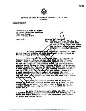 Primary view of object titled 'Texas Attorney General Opinion: O-6789'.