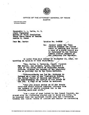 Primary view of object titled 'Texas Attorney General Opinion: O-6818'.