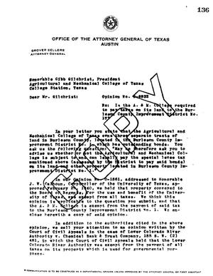 Primary view of object titled 'Texas Attorney General Opinion: O-6832'.