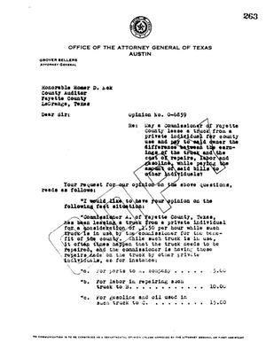 Primary view of object titled 'Texas Attorney General Opinion: O-6859'.