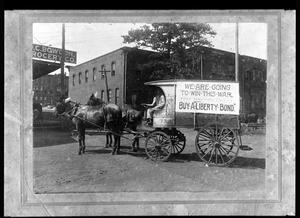 Primary view of object titled '[Wagon Advertising Liberty Bonds]'.