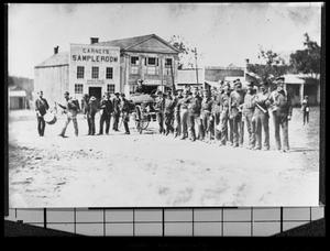 Primary view of object titled '[Palestine Fire Department Band]'.