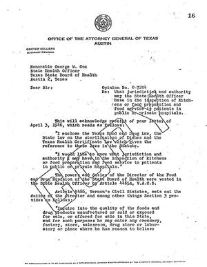 Primary view of object titled 'Texas Attorney General Opinion: O-7204'.