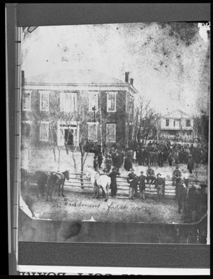 Primary view of object titled '[Freedmens First Vote - Anderson County Courthouse]'.