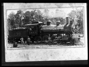 Primary view of object titled '[I&GN Railroad Engine Number 139]'.