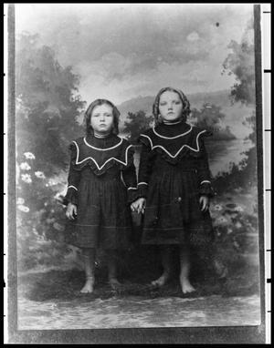 Primary view of object titled '[Two Unidentified Girls]'.