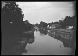Primary view of object titled '[Unidentified Town Beside a River]'.