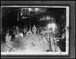 Primary view of object titled '[Iinterior of The Village Smithy - H.R. Turbyfill, Prop.]'.