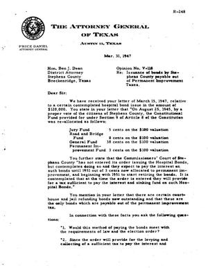 Primary view of object titled 'Texas Attorney General Opinion: V-118'.