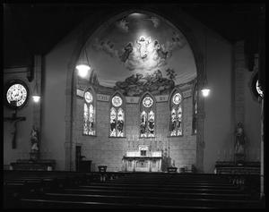 Primary view of object titled '[Interior of the Sacred Heart Catholic Church - Palestine]'.