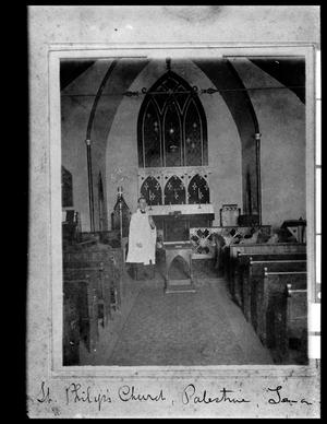 Primary view of object titled '[Interior of St. Phillips Episcopal Church - Palestine]'.