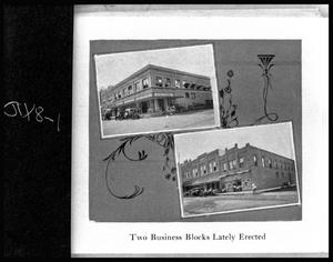 Primary view of object titled '[Collage of Photos of Two Business Blocks in Palestine]'.