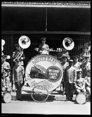 Primary view of object titled '[Missouri Pacific Railroad Booster Band]'.