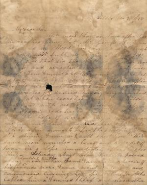 Primary view of Letter to Cromwell Anson Jones, 9 December 1878