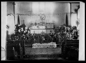Primary view of object titled '[Interior of St. Philips Episcopal Church - Palestine]'.