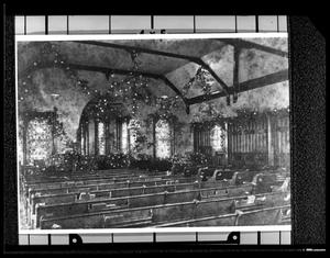Primary view of object titled '[Interior of the First Presbyterian Church - Palestine]'.