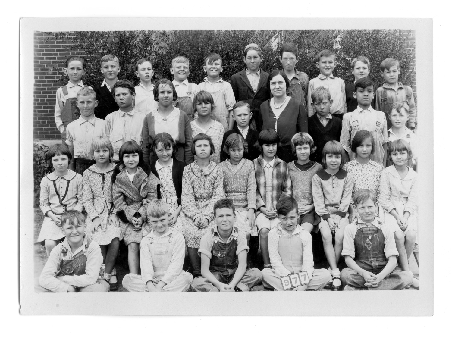 [Sanger School class picture 1930, Third Grade]                                                                                                      [Sequence #]: 1 of 2