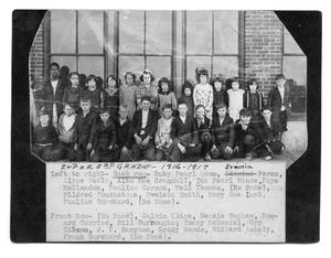 Primary view of object titled '[Sanger School class picture 1916-1917, 2nd or 3rd grade]'.