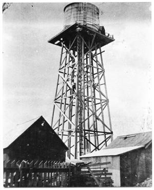 [First public water tower]
