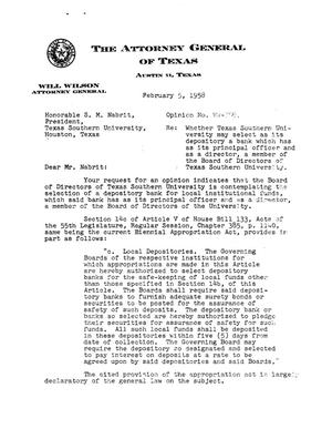 Primary view of object titled 'Texas Attorney General Opinion: WW-359'.