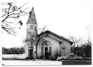 Primary view of object titled '[Sanger Presbyterian Church / Sanger Public Library]'.