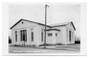 Primary view of object titled 'Methodist Church - Sanger, Texas'.