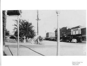 Primary view of object titled '[Bolivar Street, Sanger, Texas]'.