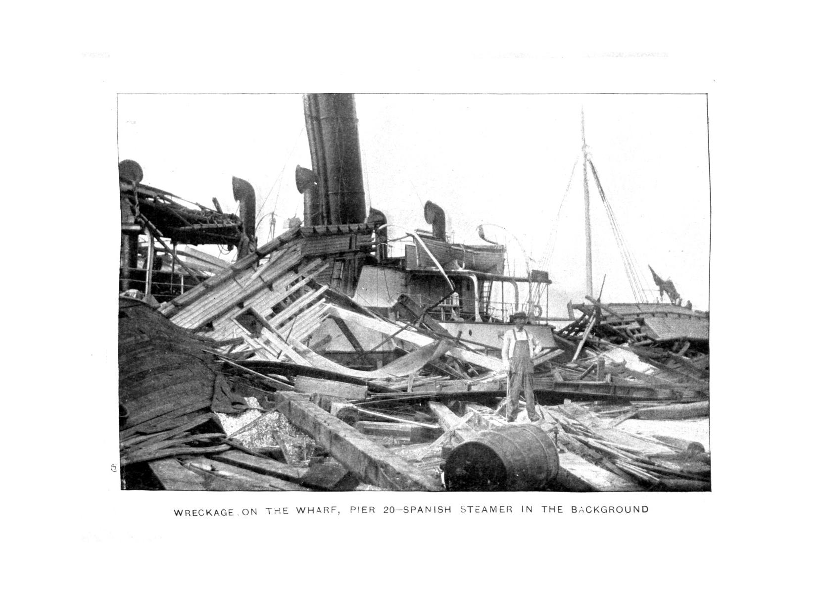 The great Galveston disaster, containing a full and thrilling account of the most appalling calamity of modern times including vivid descriptions of the hurricane                                                                                                      Plate No. 05