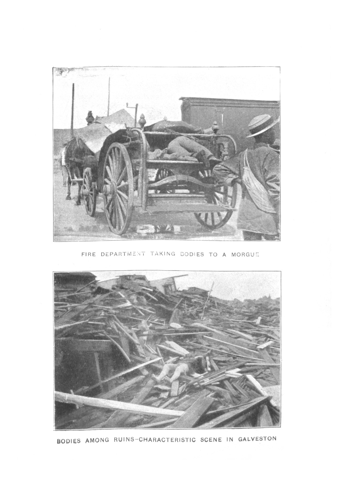 The great Galveston disaster, containing a full and thrilling account of the most appalling calamity of modern times including vivid descriptions of the hurricane                                                                                                      Plate No. 13