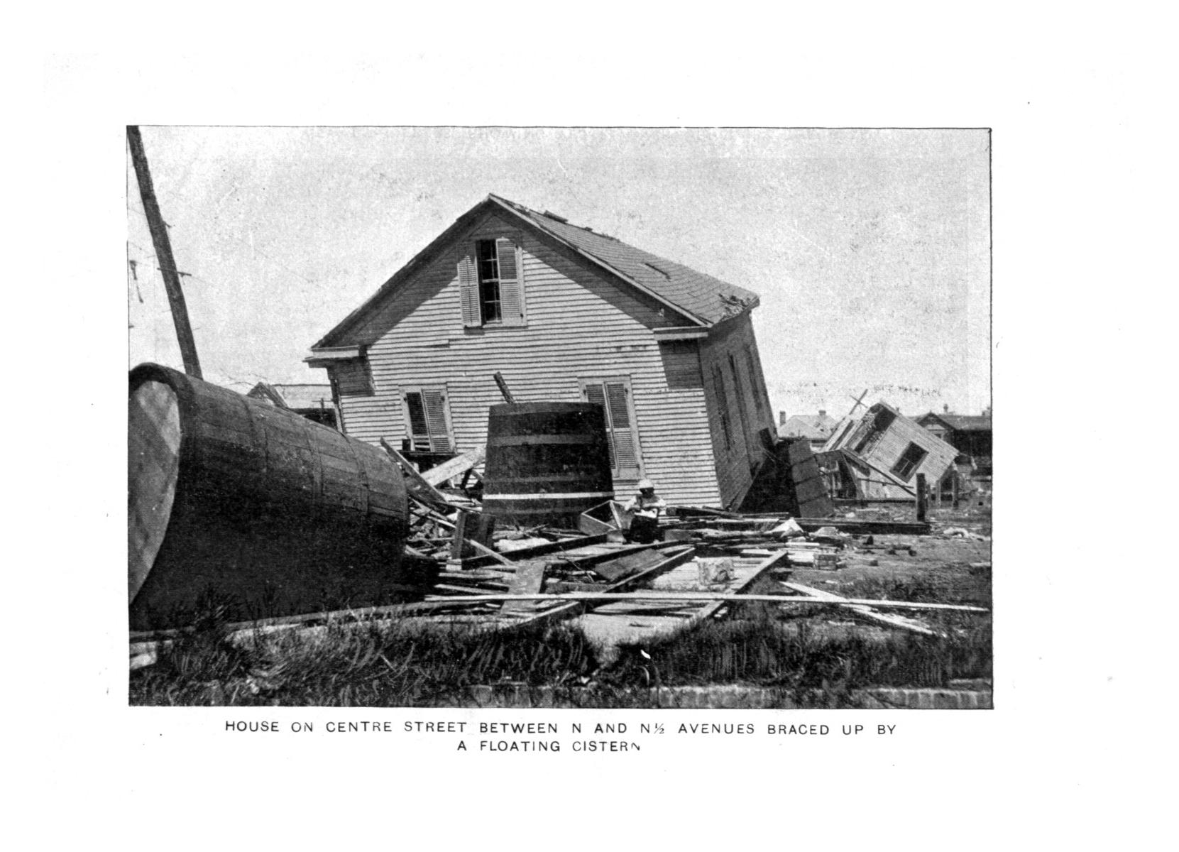 The great Galveston disaster, containing a full and thrilling account of the most appalling calamity of modern times including vivid descriptions of the hurricane                                                                                                      Plate No. 16