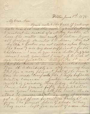 Letter to Cromwell Anson Jones, 1 June 1878