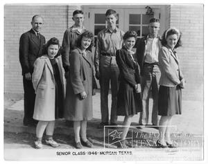 Primary view of object titled 'Morgan High School Senior Class of 1946'.