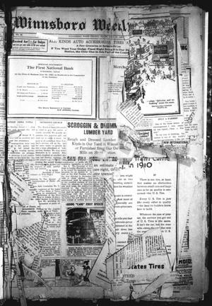 Primary view of object titled 'Winnsboro Weekly News (Winnsboro, Tex.), Vol. [11], No. [49], Ed. 1 Friday, July 30, 1920'.