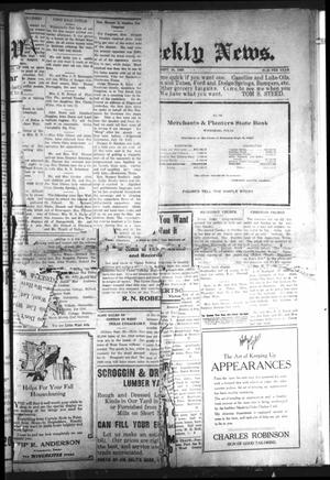 Primary view of object titled 'Winnsboro Weekly News (Winnsboro, Tex.), Vol. [12], No. [5], Ed. 1 Friday, September 24, 1920'.