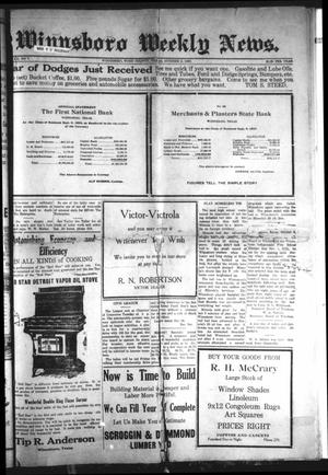 Primary view of object titled 'Winnsboro Weekly News (Winnsboro, Tex.), Vol. 12, No. 7, Ed. 1 Friday, October 8, 1920'.