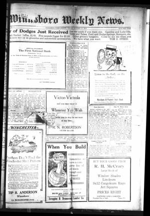 Primary view of object titled 'Winnsboro Weekly News (Winnsboro, Tex.), Vol. 12, No. 8, Ed. 1 Friday, October 15, 1920'.