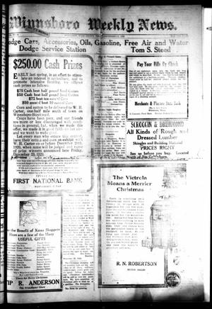 Primary view of object titled 'Winnsboro Weekly News (Winnsboro, Tex.), Vol. 12, No. 17, Ed. 1 Friday, December 17, 1920'.