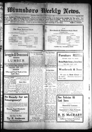 Primary view of object titled 'Winnsboro Weekly News (Winnsboro, Tex.), Vol. 12, No. 28, Ed. 1 Friday, March 11, 1921'.