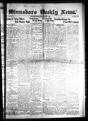 Primary view of object titled 'Winnsboro Weekly News (Winnsboro, Tex.), Vol. 13, No. 21, Ed. 1 Friday, January 27, 1922'.