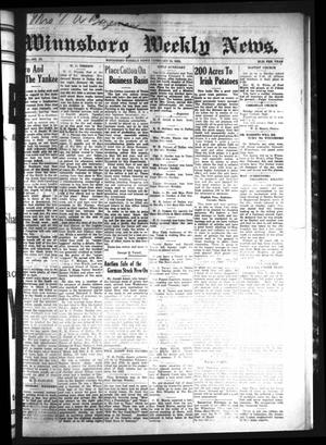 Primary view of object titled 'Winnsboro Weekly News (Winnsboro, Tex.), Vol. 13, No. 23, Ed. 1 Friday, February 10, 1922'.