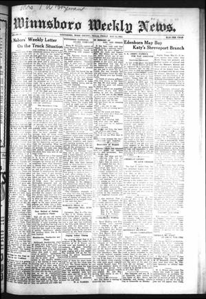 Primary view of object titled 'Winnsboro Weekly News (Winnsboro, Tex.), Vol. 13, No. 35, Ed. 1 Friday, May 12, 1922'.