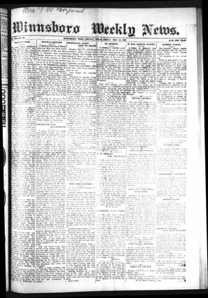 Primary view of object titled 'Winnsboro Weekly News (Winnsboro, Tex.), Vol. 13, No. 36, Ed. 1 Friday, May 19, 1922'.