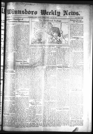 Primary view of object titled 'Winnsboro Weekly News (Winnsboro, Tex.), Vol. 13, No. 37, Ed. 1 Friday, May 26, 1922'.