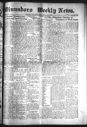 Primary view of object titled 'Winnsboro Weekly News (Winnsboro, Tex.), Vol. 13, No. 38, Ed. 1 Friday, June 2, 1922'.