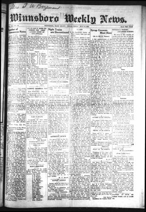 Primary view of object titled 'Winnsboro Weekly News (Winnsboro, Tex.), Vol. 13, No. 44, Ed. 1 Friday, July 14, 1922'.