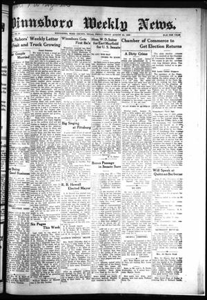 Primary view of object titled 'Winnsboro Weekly News (Winnsboro, Tex.), Vol. 13, No. 50, Ed. 1 Friday, August 25, 1922'.