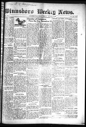 Primary view of object titled 'Winnsboro Weekly News (Winnsboro, Tex.), Vol. 14, No. 5, Ed. 1 Friday, October 13, 1922'.
